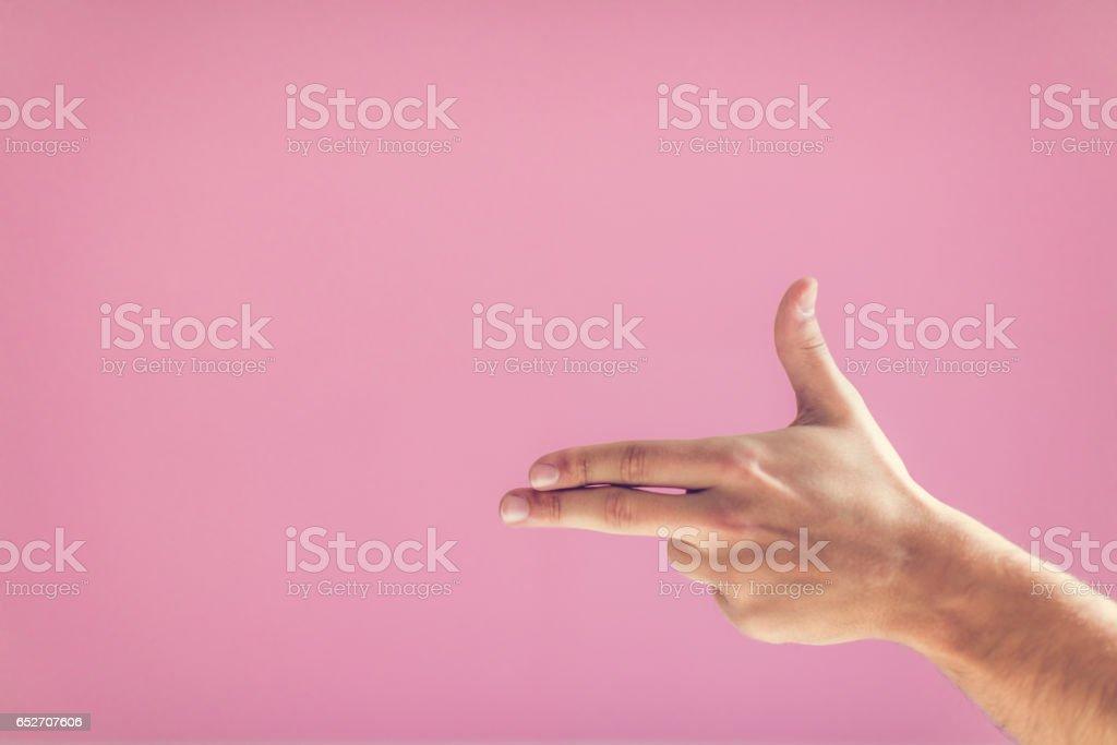 Human hand gesture stock photo
