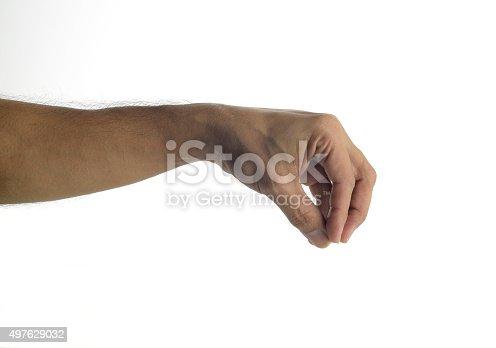 182925103 istock photo Human Hand Giving - Lifting gesture 497629032