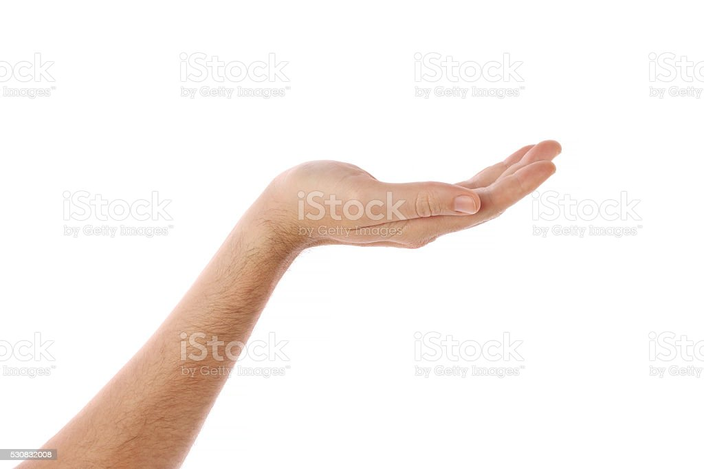human hand held up stock photo