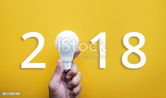 845301446 istock photo Human hand holding white lightbulb 901236166