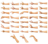 istock Human hand isolate on white background 1083277640