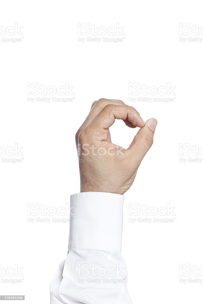 human hand number zero stock photo