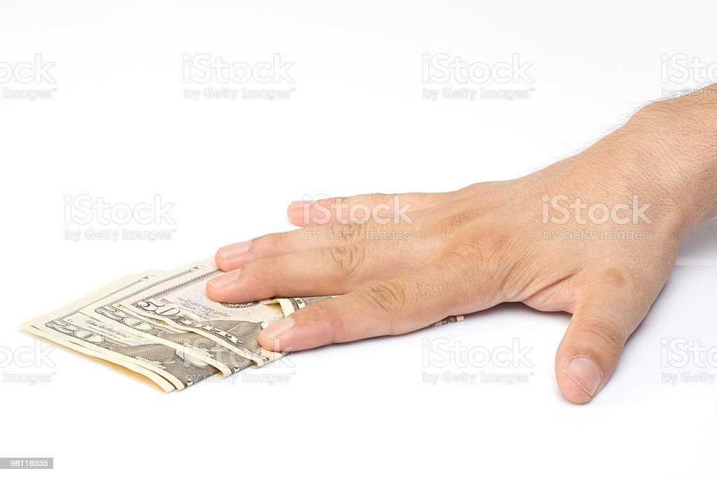 휴머니즘 손을 미국 dolars royalty-free 스톡 사진