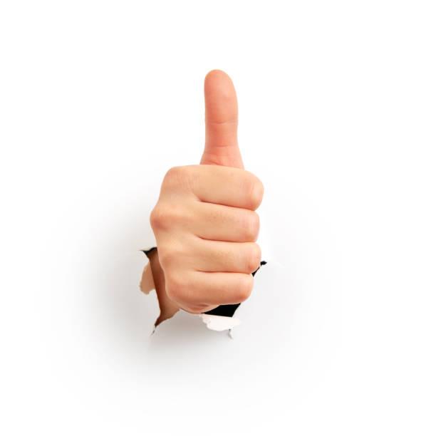 i̇nsan el başparmak gösterilmesini - thumbs up stok fotoğraflar ve resimler