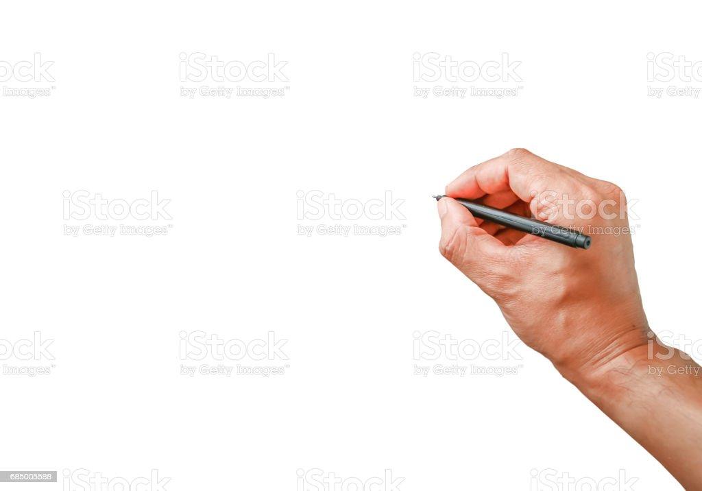 Human hand showing write something Lizenzfreies stock-foto