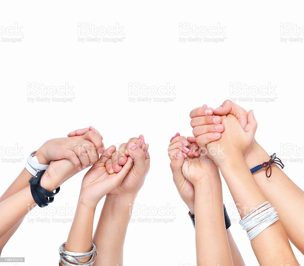 Human hands against white background royalty-free stock photo