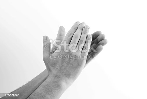 590048454 istock photo Human hands clapping 917555052