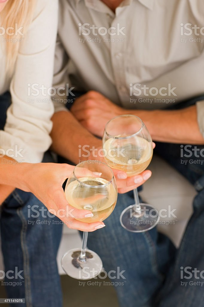 Human hands holding glass royalty-free stock photo