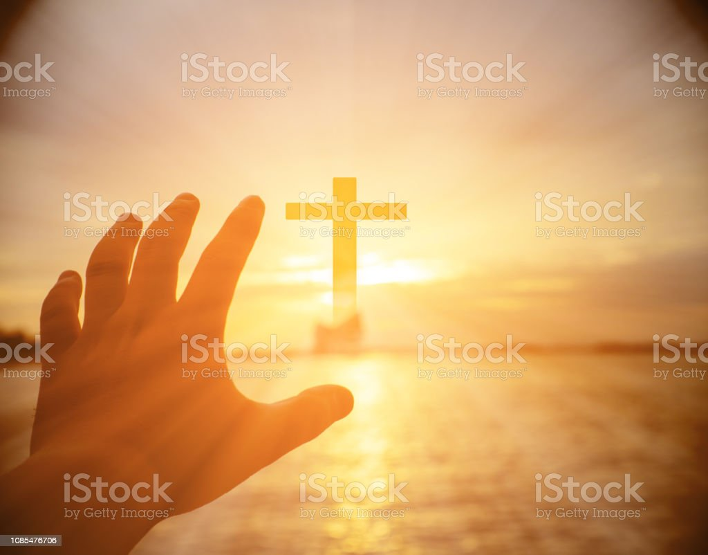 Human hands open palm up worship. Eucharist Therapy Bless God Helping...