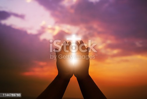 istock Human hands open palm up worship. Eucharist Therapy Bless God Helping Repent Catholic Easter Lent Mind Pray. 1144789783