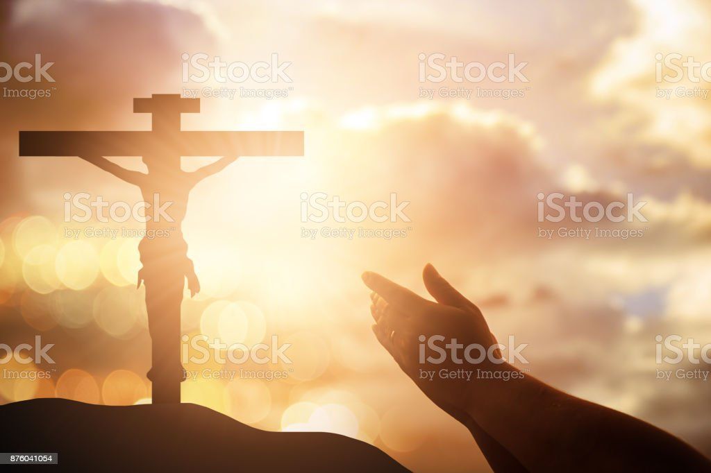 Human hands open palm up worship. Eucharist Therapy Bless God Helping Repent Catholic Easter Lent Mind Pray. Christian concept background. victory stock photo