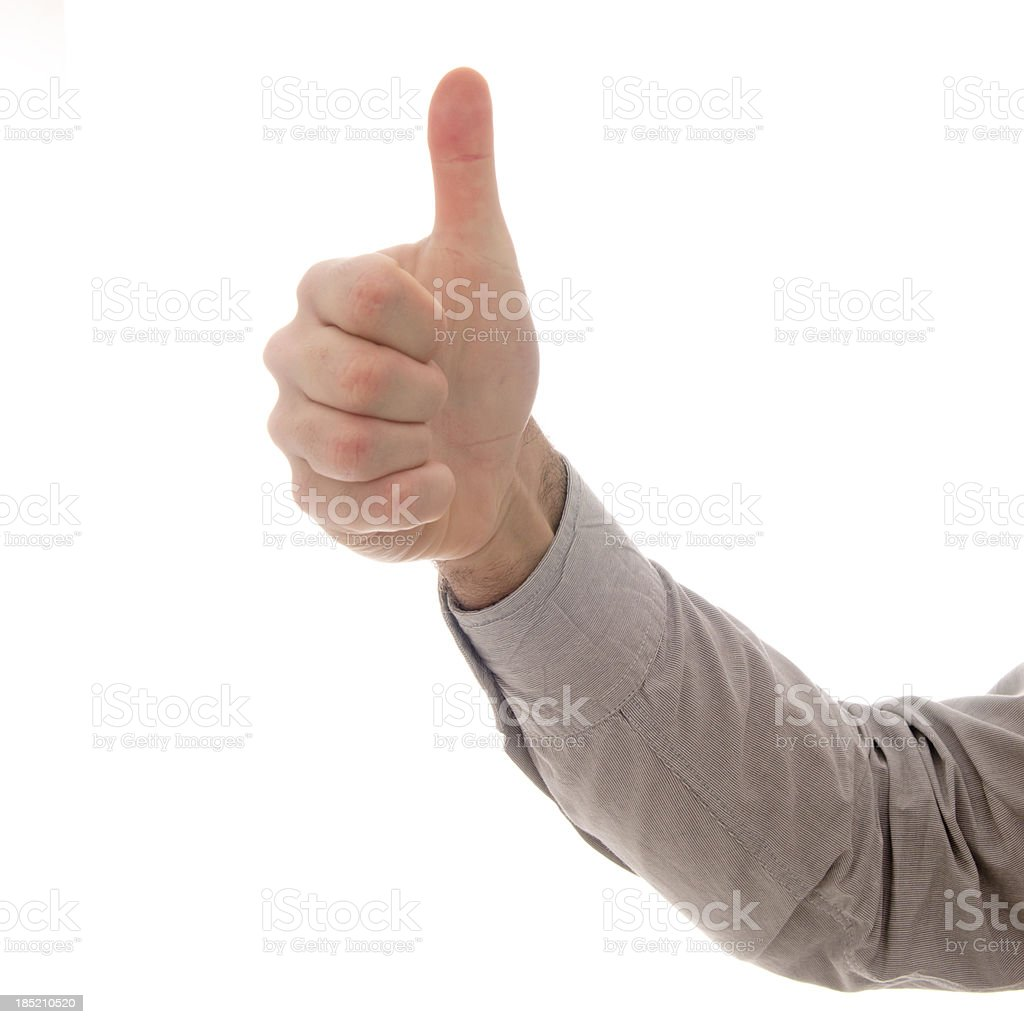 Human Hands Thumb Up royalty-free stock photo
