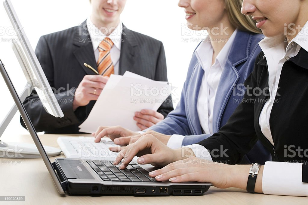 Human hands Typing royalty-free stock photo