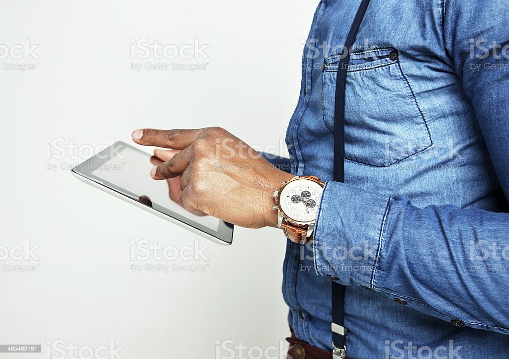 Human hands with tablet pc royalty-free stock photo