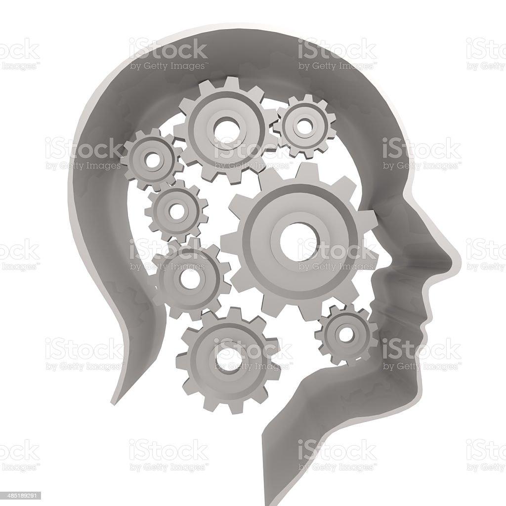 Human head gear white royalty-free stock photo