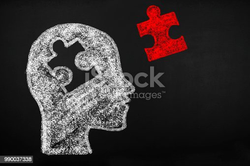 Human head of puzzle