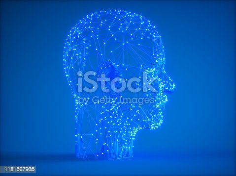1128821780istockphoto Human Head On Blue Background In The Form Of Artificial Intelligence 1181567935