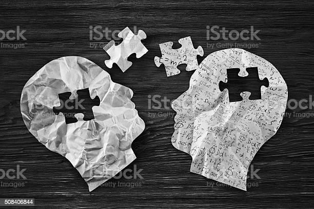 Human heads with puzzle part picture id508406844?b=1&k=6&m=508406844&s=612x612&h=rkho3xal72bhnp3lfllu05aebz p6dya0uvlk8furia=