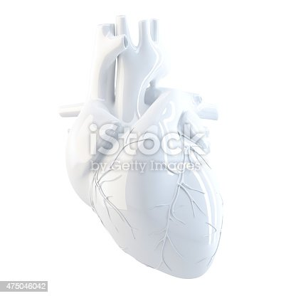 istock Human Heart. 3d render. Isolated, contains clipping path. 475046042