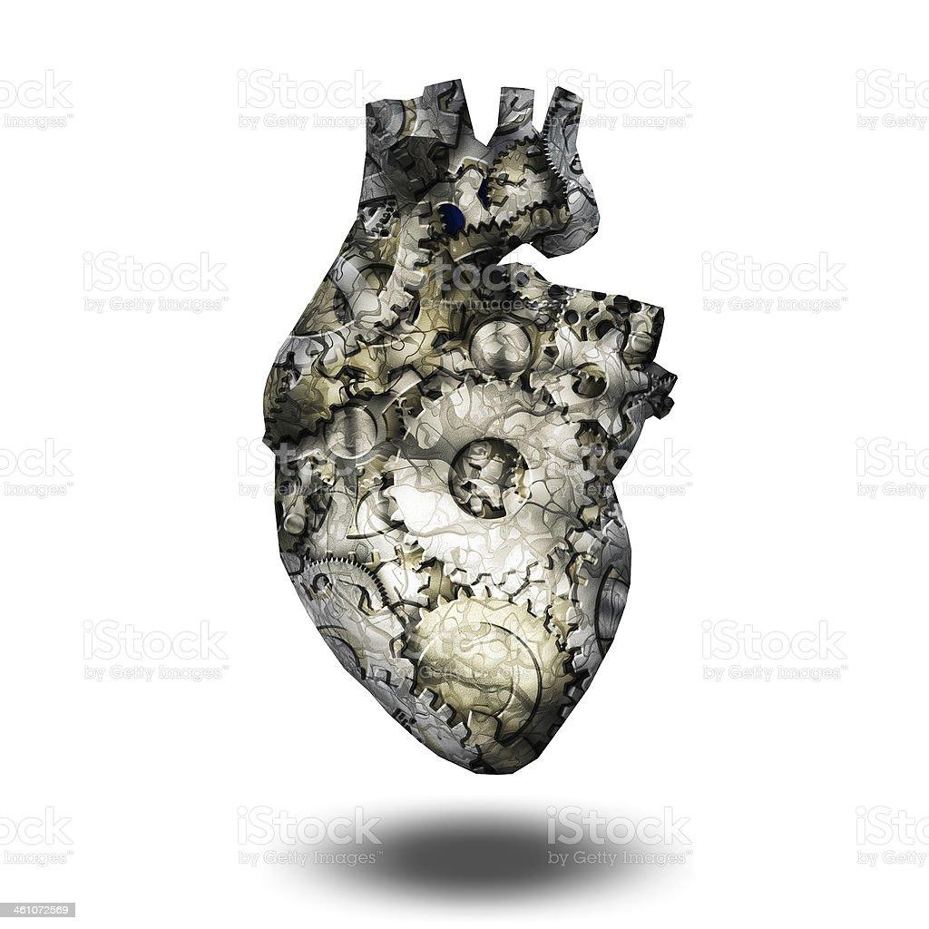 Human heart machine stock photo