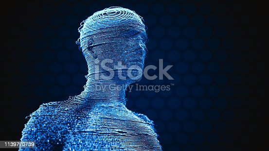 istock Human Hologram Techology Background 1139770739