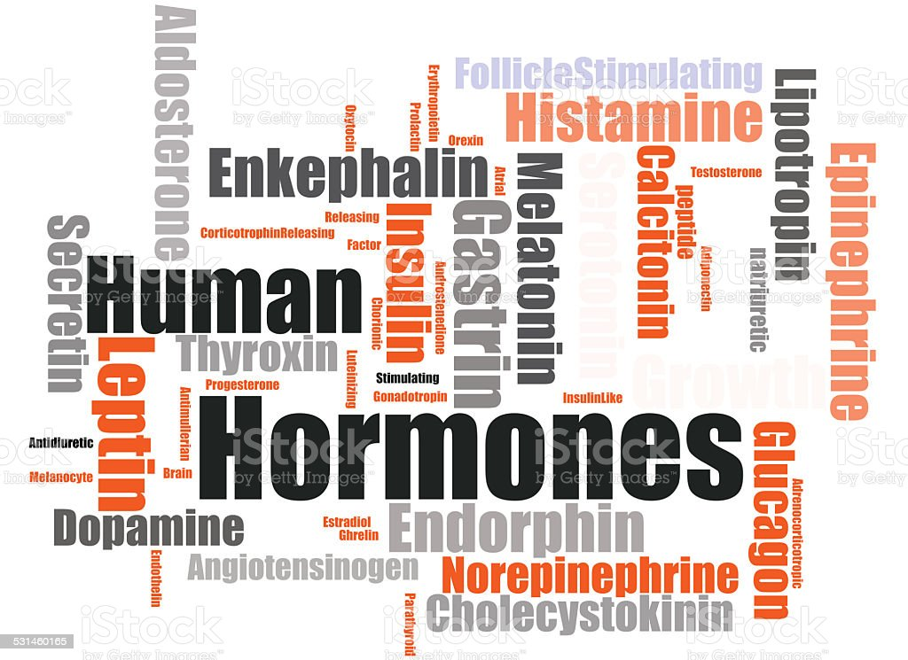 Human hormones stock photo