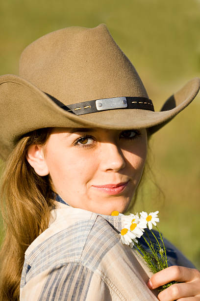 7601eef69ae Human in Nature  CowGirl Ten-Gallon Hat stock photo