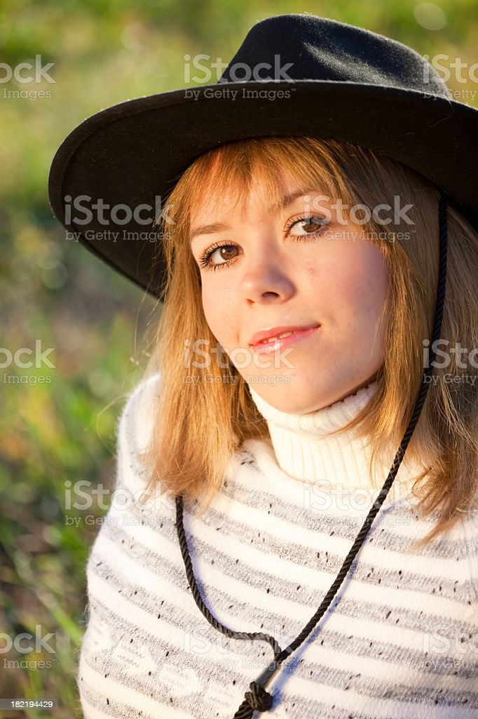 3bf462c78d6 Human In Nature Cowgirlamptengallon Hat Stock Photo   More Pictures ...
