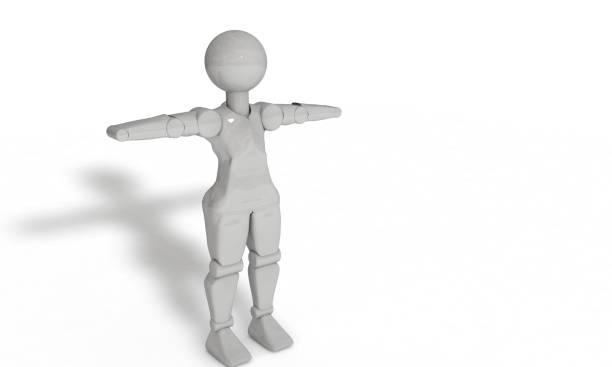 humanos aislados en los objetos blancos, 3d render - sequence animation fotografías e imágenes de stock