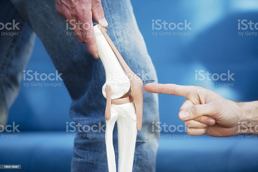 Human knee joint stock photo