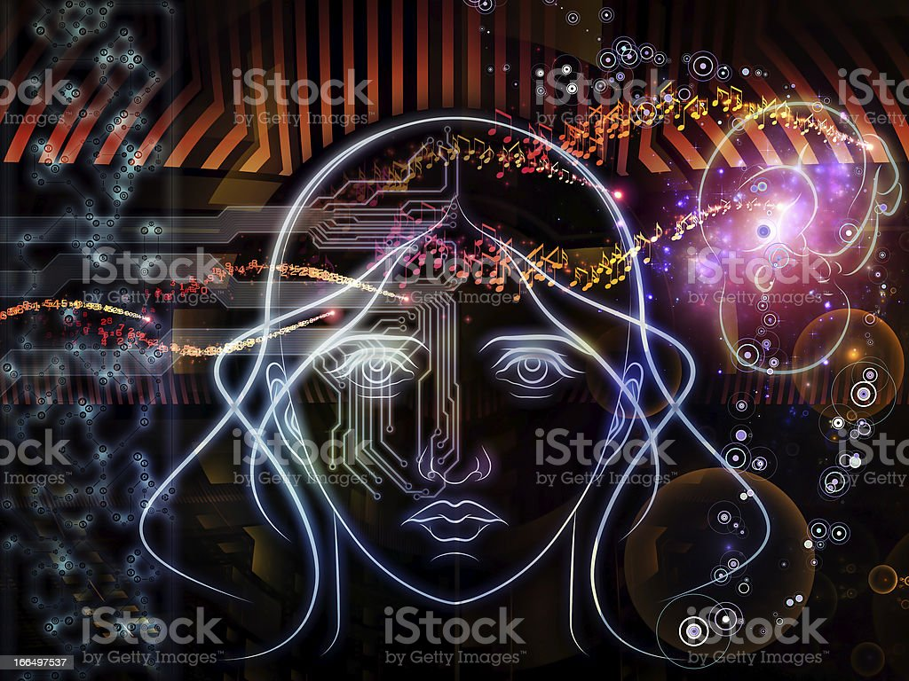 Human Machine royalty-free stock photo