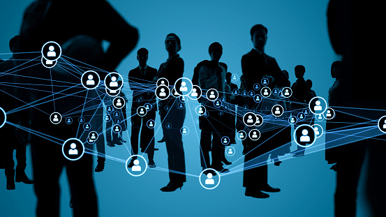 Human network concept. Worldwide business. Human resources.