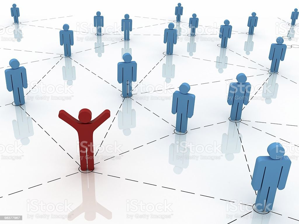 Human Network royalty-free stock photo