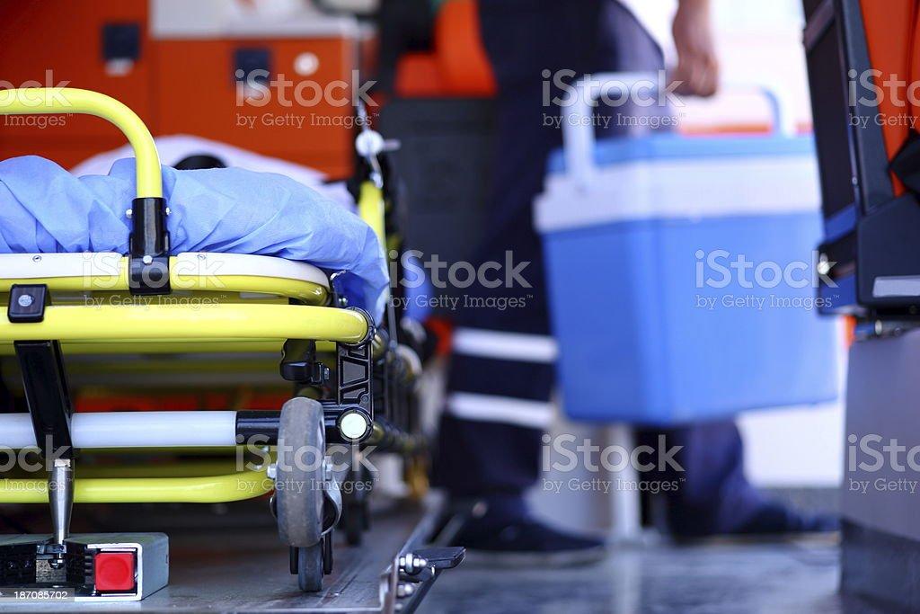 Human Organ Transplantation Human Organ Transplantation on ambulance. Accidents and Disasters Stock Photo