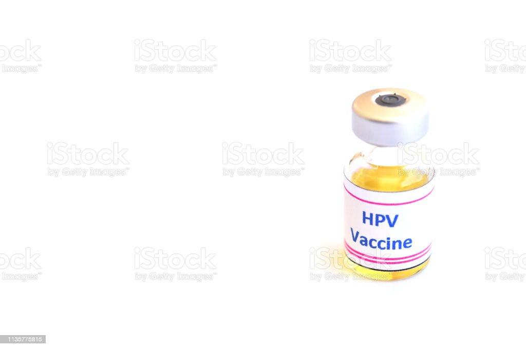 Vacuna contra el virus del papiloma humano o vacuna contra el VPH inyectable - foto de stock