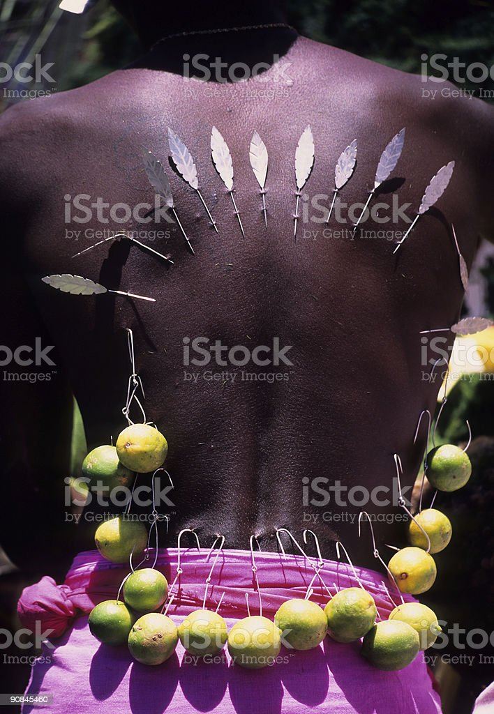 Human Piercing stock photo