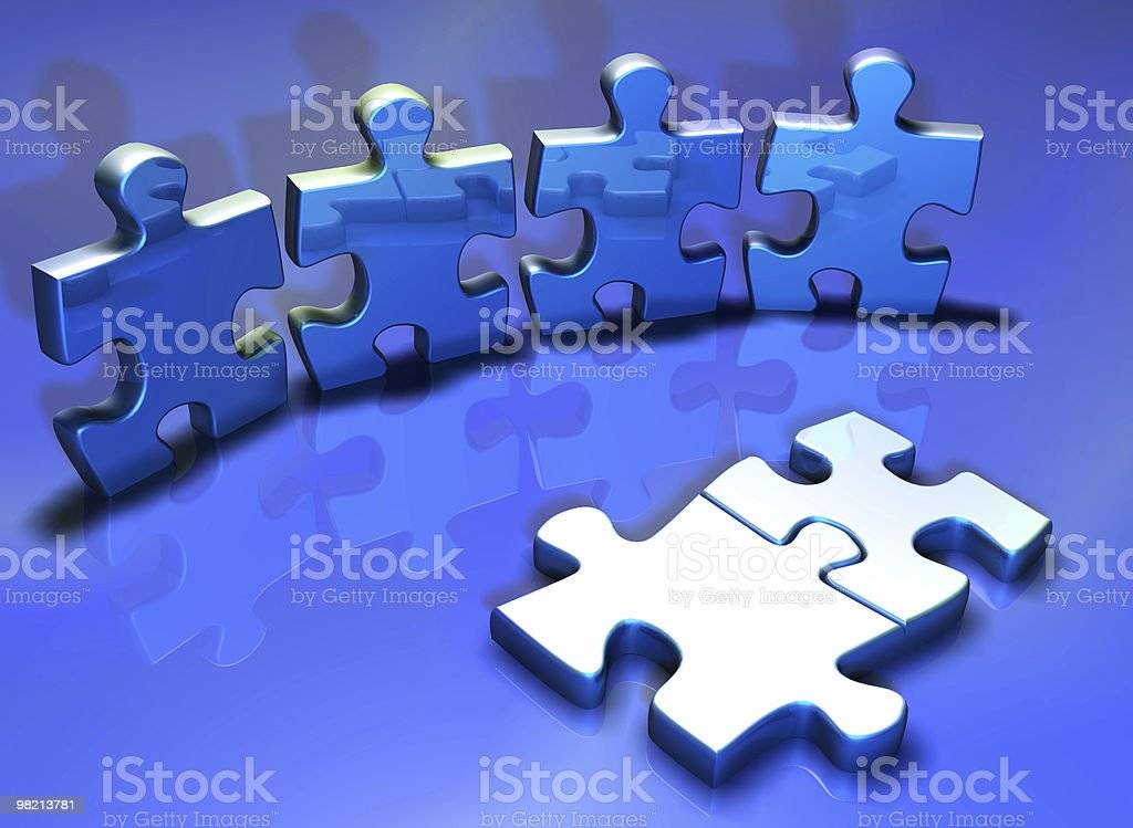 Human puzzle royalty-free stock photo