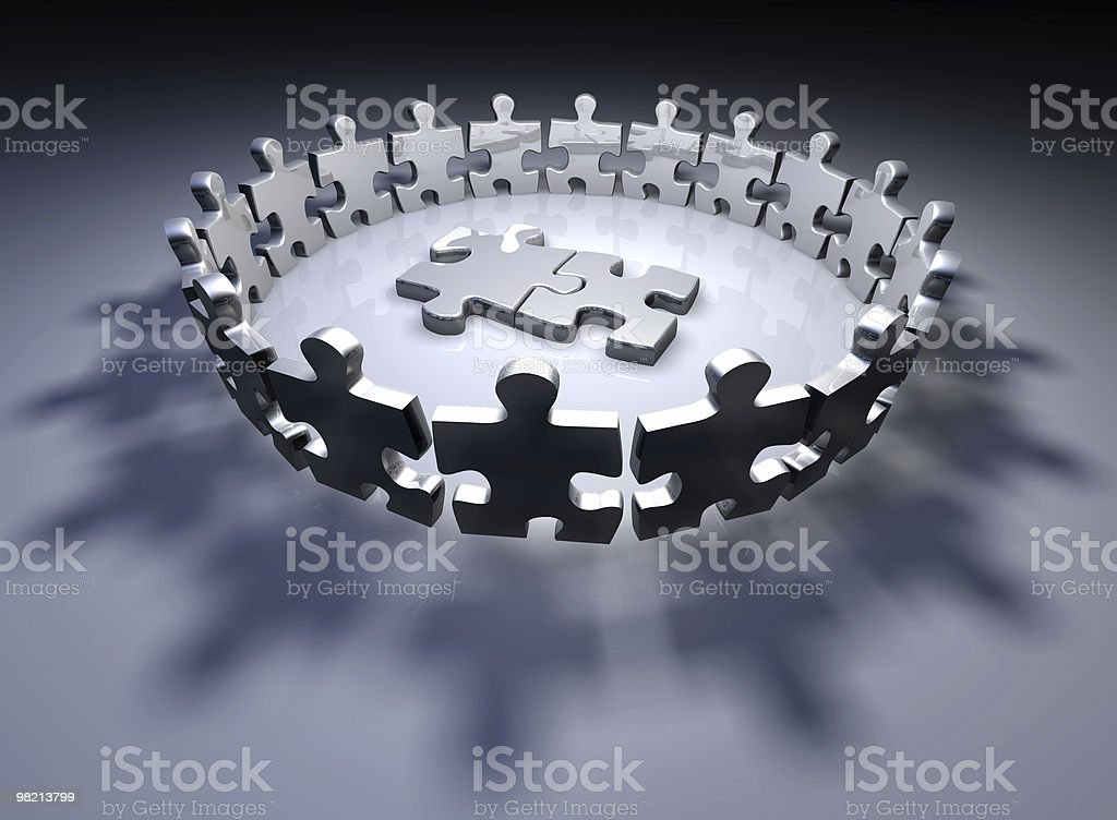 Human puzzle pieces royalty-free stock photo