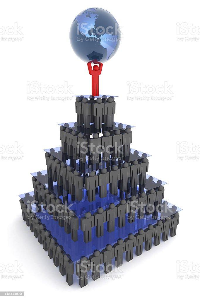 Human pyramid royalty-free stock photo