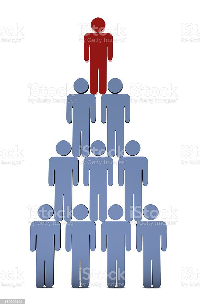 Human Pyramid royalty-free stock photo
