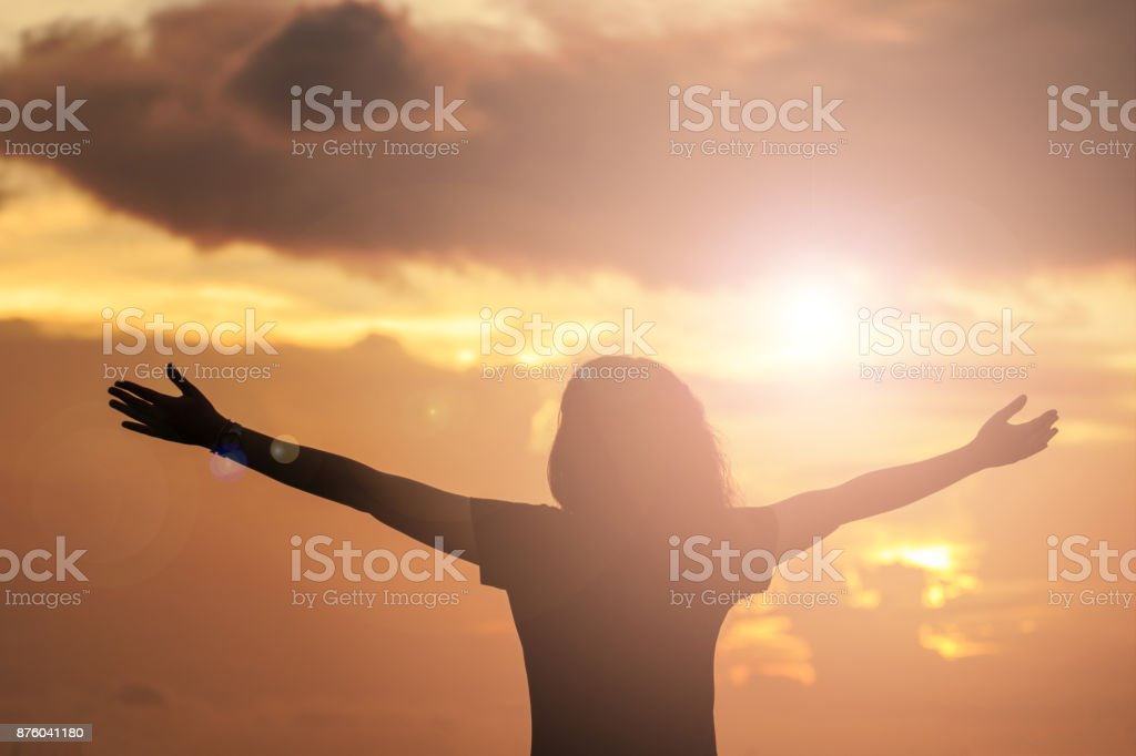 Human raising hands. Mercy Right Trust Catholic Migrant Free Bold God Power Moral Grief Amnesty Triumph Change Black Liberty Religion Answer Prayer Pray Fasting. Worship christian concept background stock photo