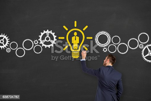 493338692istockphoto Human Resource and Idea With Person on Chalkboard 638704782