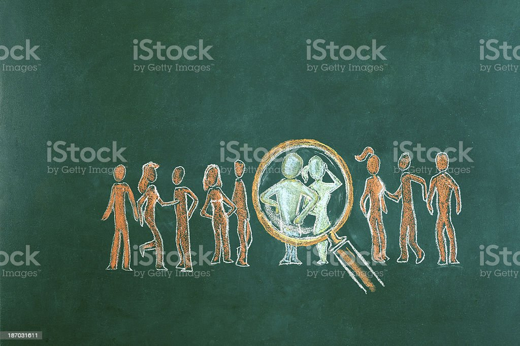 Human Resource Concept Drawing royalty-free stock photo