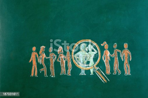 istock Human Resource Concept Drawing 187031611