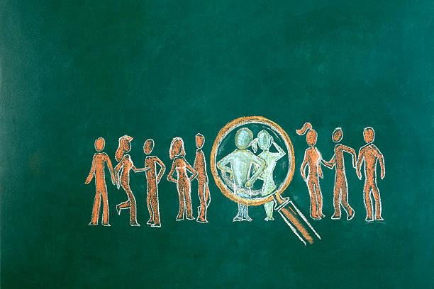 Desenho de conceito de recursos humanos - foto de acervo