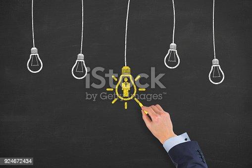 493338692istockphoto Human Resource Concept on Blackboard 924672434
