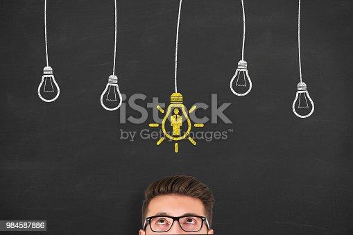493338692istockphoto Human Resource Concept on Blackboard 984587886