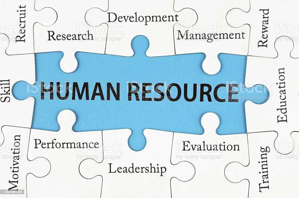 Human resource concept stock photo