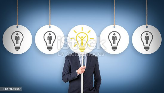 493338692istockphoto Human Resource Concepts on Blue Background 1157803637