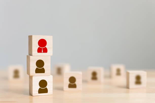 human resource management and recruitment business build team concept, copy space - recluta foto e immagini stock
